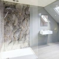 Multipanel Classic Cappuccino Stone 1200mm Unlipped Shower Wall Panel